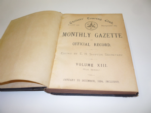 Cyclist'sTouring Club (C.T.C.) Monthly Gazette Volumes 13 & 14 (1894 - 1895)